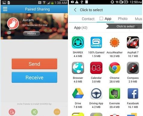Shareit transfer and Share Files Guide screenshot 2