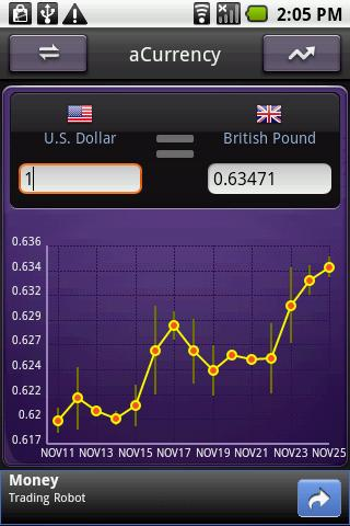 aCurrency (exchange rate) screenshot 5