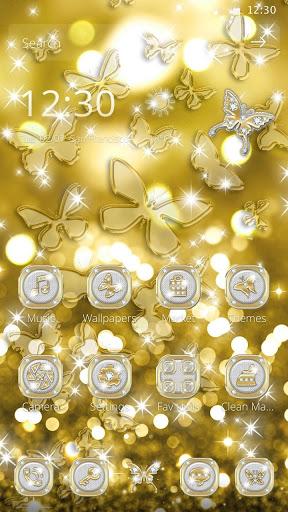Butterflies Theme Gold Glitter Launcher screenshot 4