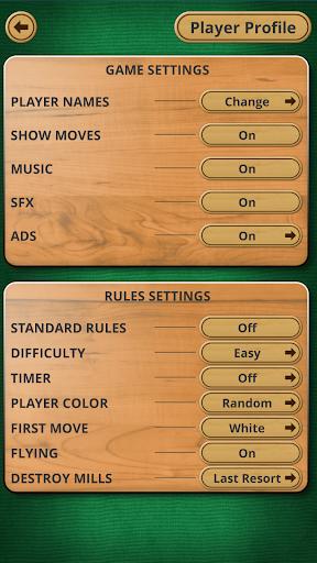 Nine men's Morris - Mills - Free online board game 2 تصوير الشاشة