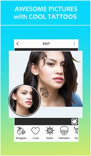 Tattoo Photo Editor- Photo Tattoos, Tattoo Maker screenshot 1