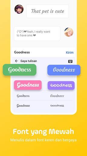 Facemoji Emoji Keyboard-Emoji Lucu,Stiker,Tema,GIF screenshot 7
