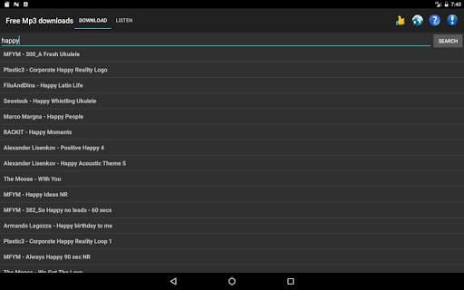 Free Mp3 Downloads स्क्रीनशॉट 10