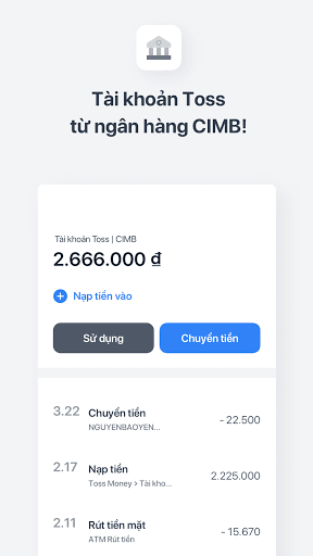 Toss: Tiền thưởng, Nạp tiền, Tài khoản miễn phí screenshot 3