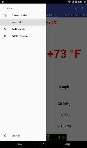 Weather forecast screenshot 3