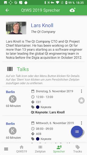 Qt World Summit 2019 Conference App screenshot 5