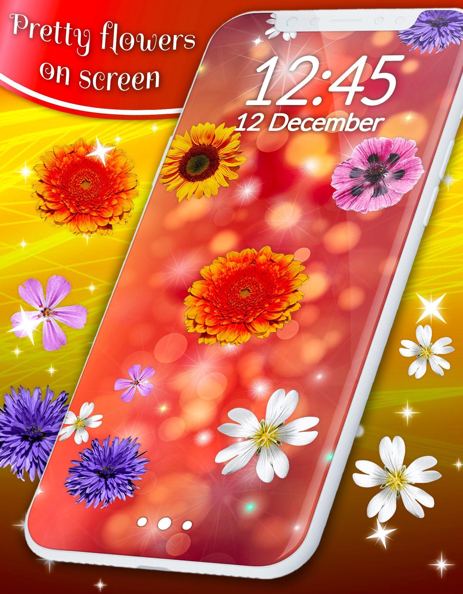 Pretty Flowers Touch on Screen Prank скриншот 4