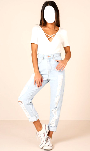 Girls Jeans Photo Suit screenshot 12