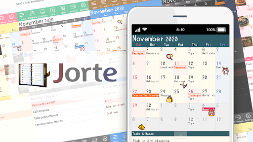 Calendar, Personal Planner & Diary - Jorte screenshot 1