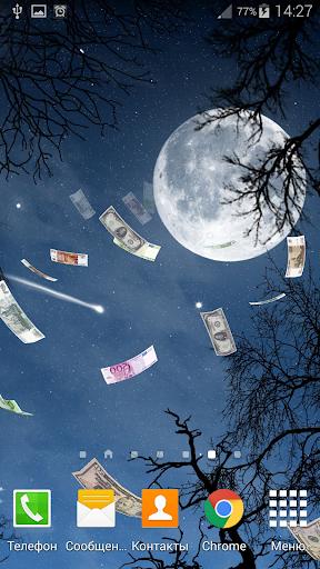 Falling Money 3D Live Wallpaper 2 تصوير الشاشة