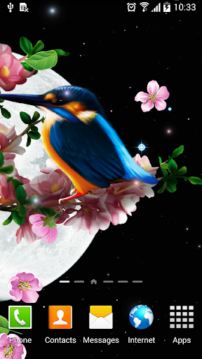 Sakura and Bird Live Wallpaper screenshot 4