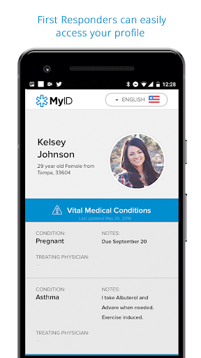 MyID – Medical ID Profile screenshot 1