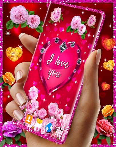 Diamond Hearts Live Wallpaper 💎 Love 4K Wallpaper 5 تصوير الشاشة
