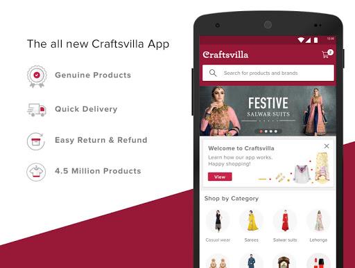 Craftsvilla - Sarees Suits Jewellery Shopping App 1 تصوير الشاشة