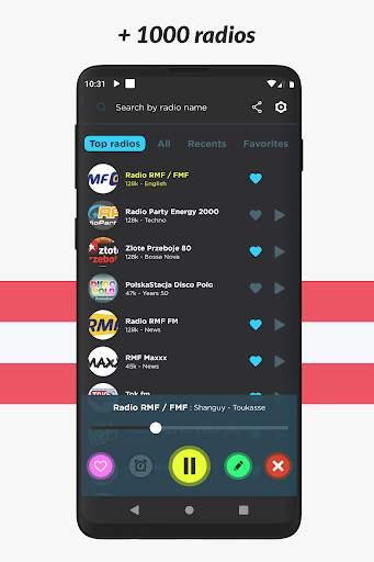 Radio Poland: Free FM radio, Internet radio screenshot 5