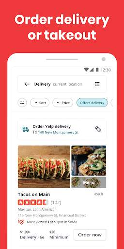 Yelp: Find Food, Delivery & Services Nearby screenshot 2