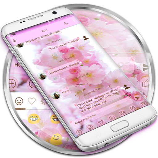 SMS Messages Love Cherry Theme icon