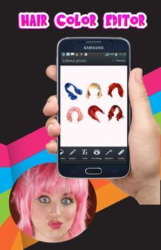 Hair color changing app screenshot 1