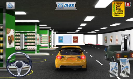 चलाना थ्रू सुपरमार्केट: खरीदारी मॉल कार ड्राइविंग स्क्रीनशॉट 7