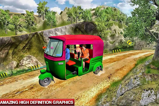 Mountain Auto Tuk Tuk Rickshaw : New Games 2020 screenshot 2