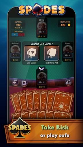 Spades - Offline Free Card Games screenshot 3