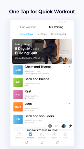 JEFIT Workout Tracker, Weight Lifting, Gym Log App 7 تصوير الشاشة