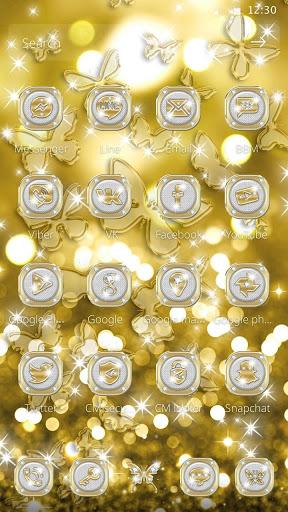 Butterflies Theme Gold Glitter Launcher screenshot 6