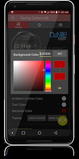 Daring Carbon HD WatchFace Widget Live Wallpaper 5 تصوير الشاشة