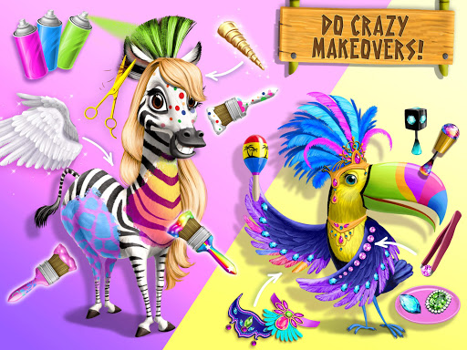 Jungle Animal Hair Salon 2 - Tropical Beauty Salon स्क्रीनशॉट 14
