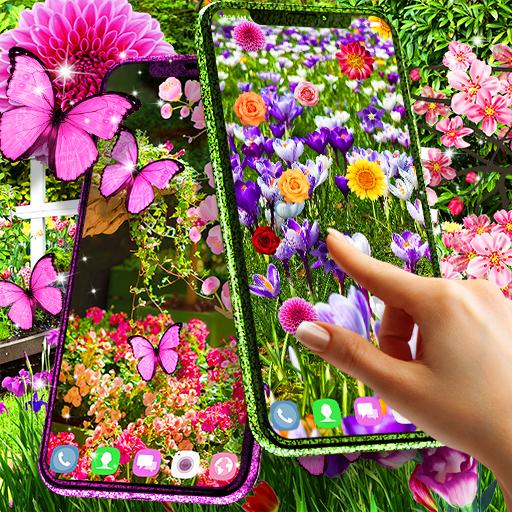 Flower garden live wallpaper أيقونة