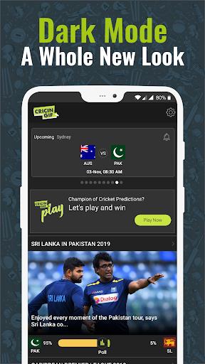 Cricingif - PSL 5 Live Cricket Score & News 2 تصوير الشاشة