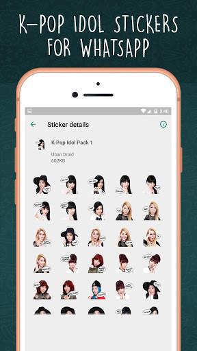 K-Pop Idol WAStickerapps screenshot 3