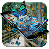 Butterfly in Phone Funny Joke icon