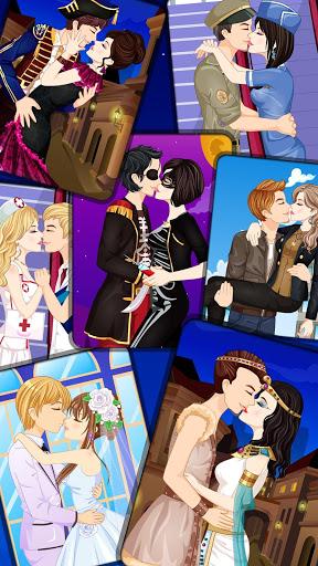 Kissing Dressup For Girls - Cute Couple Makeover screenshot 1