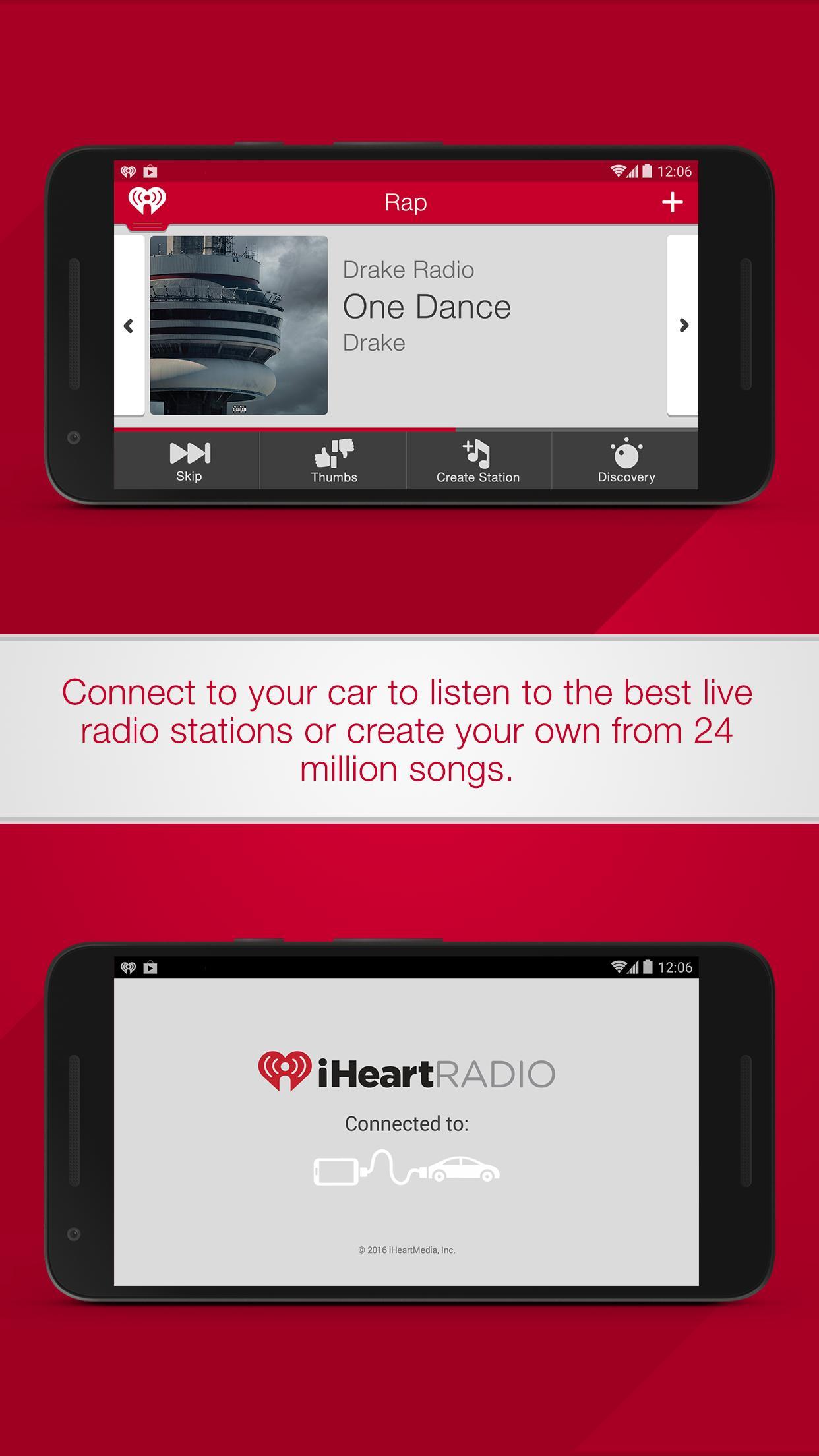 iHeartRadio for Auto screenshot 1