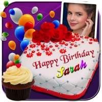 Photo On Birthday Cake - Cake with name and photo on 9Apps
