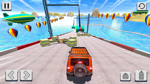 Mega Ramp Car Stunt Racing 3D - Impossible Roads screenshot 7