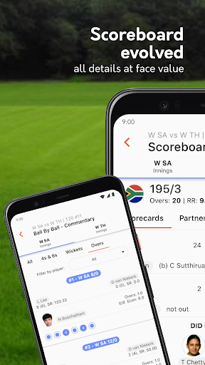 Live cricket scores, unique cricket app cricsmith 4 تصوير الشاشة
