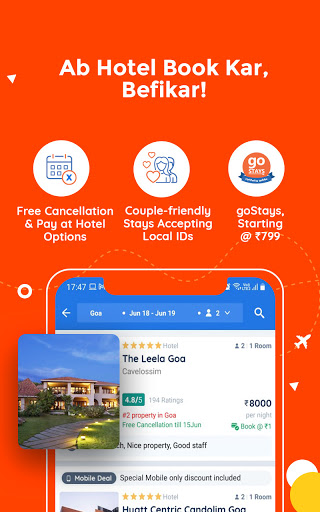 Goibibo Travel App-Hotel, Flight, IRCTC Train, Bus screenshot 4