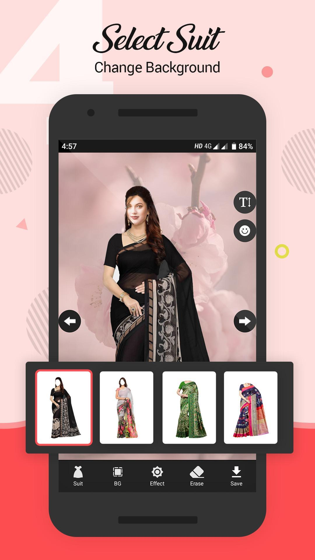 Women Saree Photo Suit screenshot 4