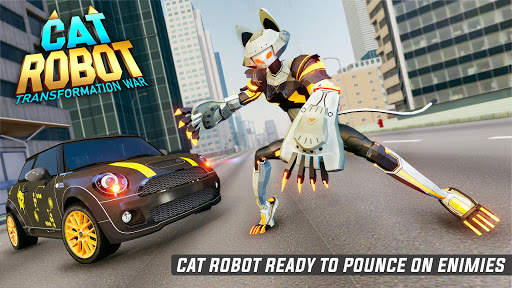 Cat Robot Car Game - Car Robot War 6 تصوير الشاشة
