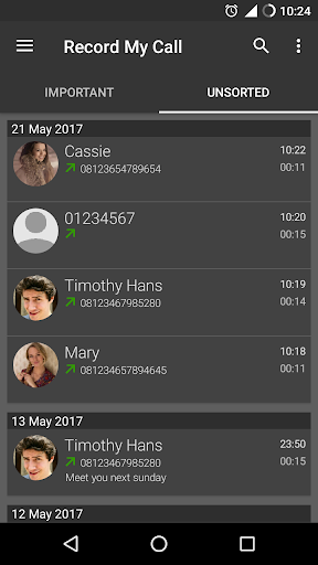 RMC: Android Call Recorder 2 تصوير الشاشة