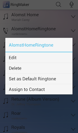 Ringdroid- Ringtone Maker MP3 Cutter Audio Cut screenshot 2