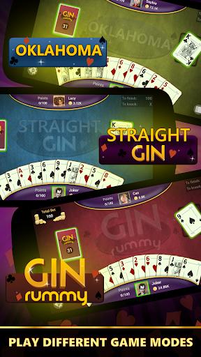 Gin Rummy - Offline Free Card Games 2 تصوير الشاشة