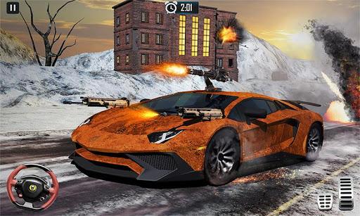 Furious Car Shooting Game: Snow Car war Games 2021 screenshot 3