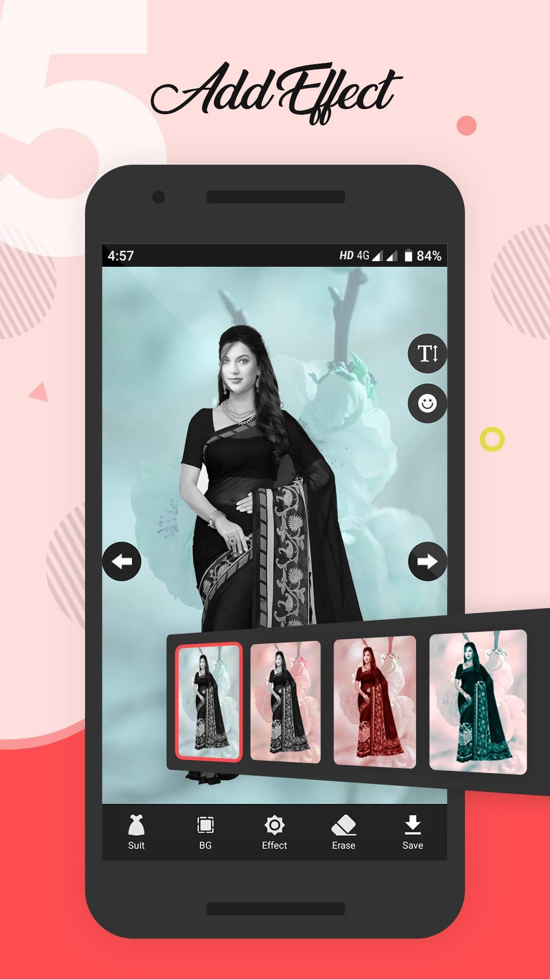 Women Saree Photo Suit screenshot 5