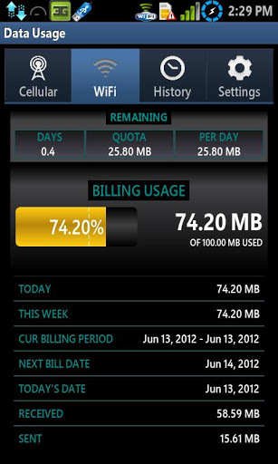 Data Usage screenshot 2