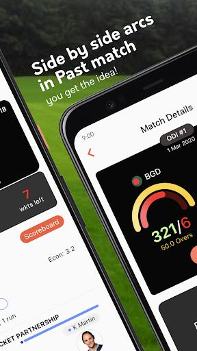 Live cricket scores, unique cricket app cricsmith 2 تصوير الشاشة