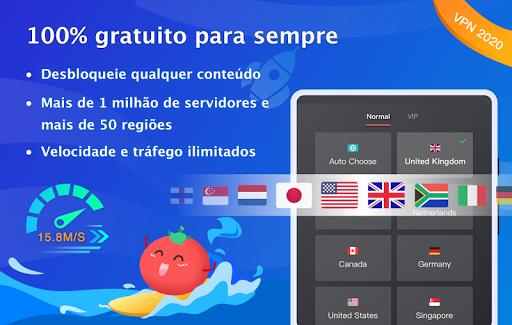 Free VPN Tomato|Proxy VPN de hotspot grátis rápido screenshot 6