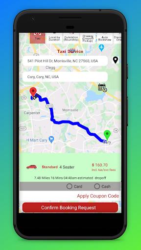 Ria Cab - Customer screenshot 2